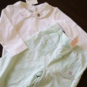 Janie And Jack NWT size 18 M Layette fly away set